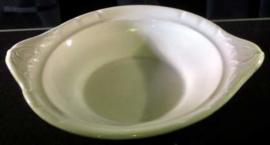 Antieke crème kleurige dekschaal