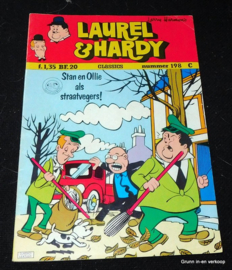 Laurel en Hardy nr. 198 - Stan en Ollie als straatvegers!