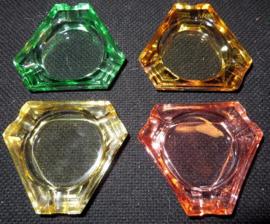 Bohemia Glass, Czechoslovakia asbakjes