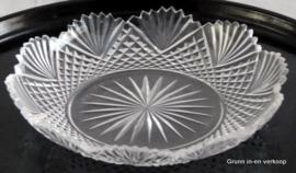 10 Kristallen schaaltjes gedecoreerd met ruit- en waaierslijpsel