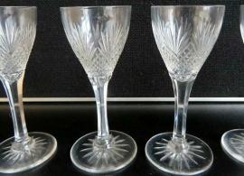 Kristallen glazen ''Alma'' glasservies.