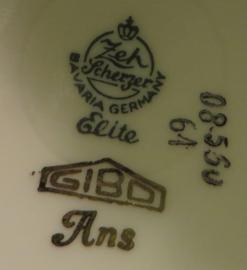 Zeh Scherzer, Bavaria Germany porseleinen theekan