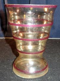 Oude brocante glazen vaas