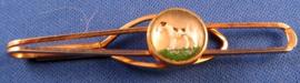 Stropdas clip met foxterriër