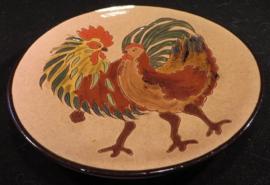 Prachtige aardewerk / terracotta Sierbord, wandbord