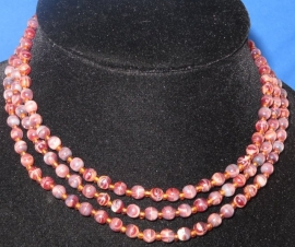 Glaskralen halsketting