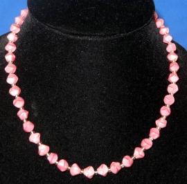 Roze glaskralen ketting