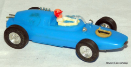 Racebaanauto Blauwe Lotus nummer 1