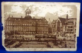 Amsterdam - Dam met kon. Paleis 1930