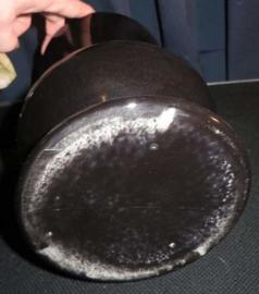 Grote zwarte keramiek vaas