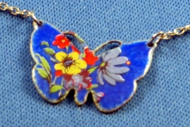 Cloisonné vlinder ketting