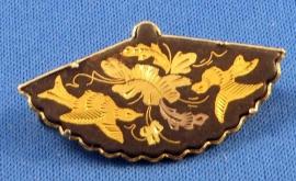 Damascene broche uit Japan