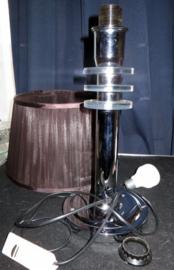 Vintage tafellamp, chromen voet