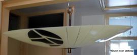 Glazen vintage plafondlamp / plafonnière 1950'S