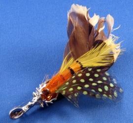 Schotse Plume Cairngorm kilt pin