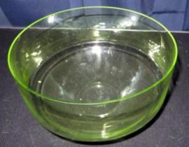 Groen glazen schaal