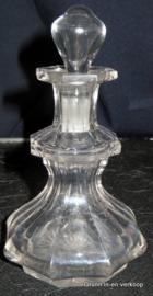 Antieke zware geslepen antieke kristallen karaf
