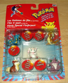 Pokémon film 5-pack met battle discs