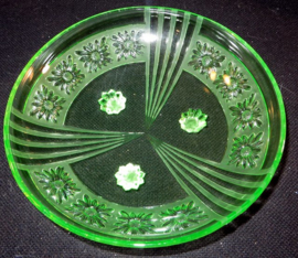 Persglazen Art Deco Schwepnitz schaal
