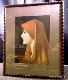 Oude Maria prent in lijst