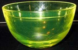 Grote uranium annagroen glazen kom.