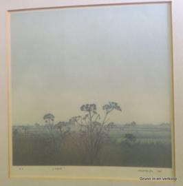Henk Kastelijn, zeefdruk getiteld ''Herfst'' 1988