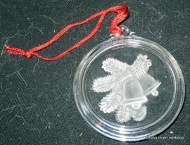 Glazen decoratieve kerst raamhanger