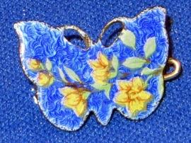Cloisonné vlinder broche