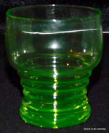 Kristalunie '3185 met ringen' vert-chine waterglas