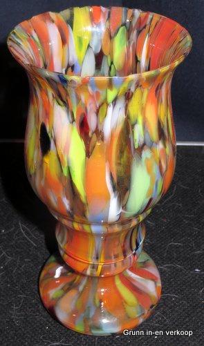 Boheemse Tsjechisch Art Nouveau multi-color Kralik vaas