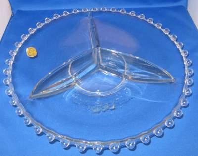 Bohemia glass made in Czechoslovakia, drievaksschaal