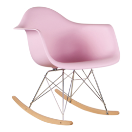 RAR style schommelstoel licht roze