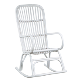 Rotan fauteuil - wit
