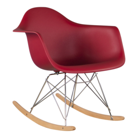 RAR style schommelstoel wijnrood