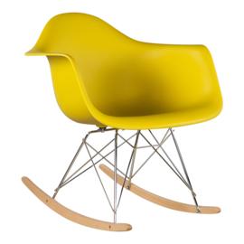 RAR style schommelstoel mosterd geel