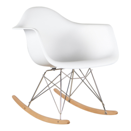 RAR style schommelstoel wit