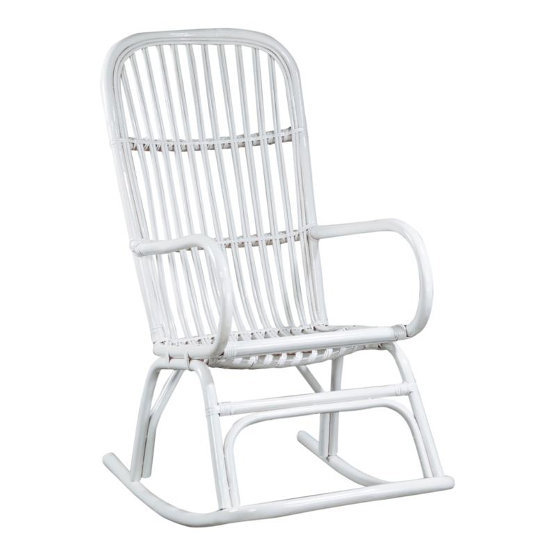 Rotan fauteuil - wit