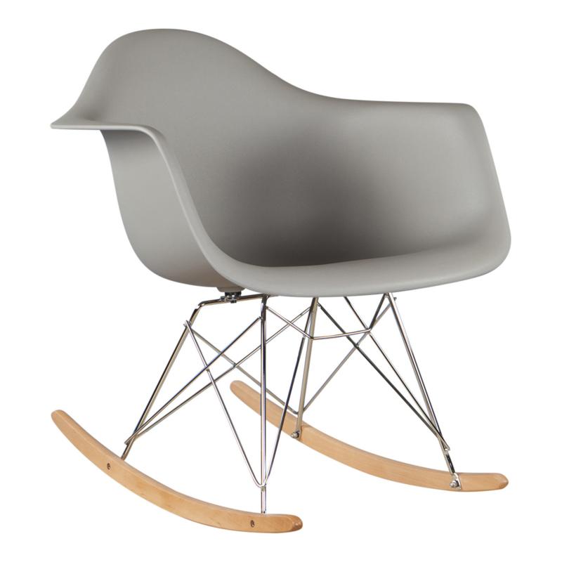 RAR style schommelstoel warm grijs