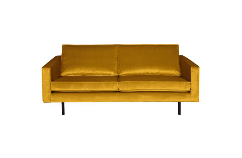 BePureHome Rodeo bank 2,5-zits Velvet oker geel
