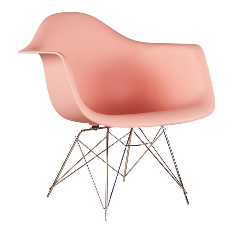 RAR style schommelstoel licht zalm