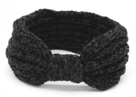 Knitted Headband Extra Soft Black