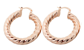 Twisted Earrings   Rose gold