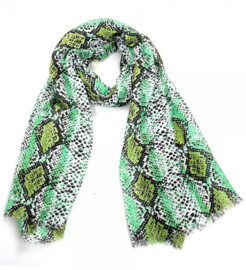 Scarf with Snake print