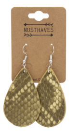 PU Snakeskin Earrings