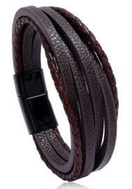 Lederen Armband | Bruin