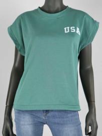 Top USA | Esmarald groen/wit