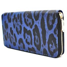 Portemonnee Leopard Blauw