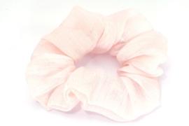 Scrunchie | Licht roze glinster