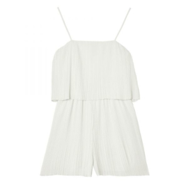 Jumpsuit Mini Pleated | Wit