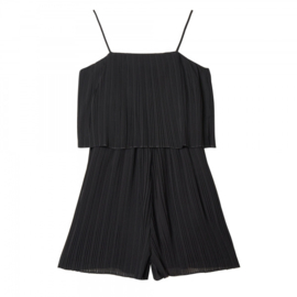 Jumpsuit Mini Pleated | Zwart